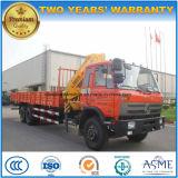 Dongfeng 6*4 8 Tonnen Arm-Kran-LKW faltend hing mit XCMG Kran ein