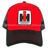 Imprimir la hoja de plata metálica culata en T bordado Snapback Trucker Cap ( TRSD05 )