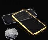 中国の卸し売り移動式アクセサリはiPhone 6/6sのケースのための柔らかいTPUの携帯電話の箱を電気めっきする水晶ゴムを取り除く