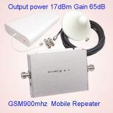 Impulsionador do sinal do telefone móvel GSM900 da G/M 900MHz, amplificador do repetidor do sinal da G/M do telefone de pilha + adaptador da potência