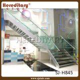 Aço pequeno interno do espaço e escadaria reta de vidro (SJ-821)