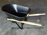 Wheelbarrow de madeira Wh6601 dos punhos