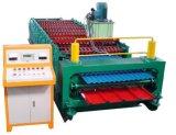 Doppelt-Schicht Farben-Stahlblech-Dach-Panel-Rolle, die Maschine bildet