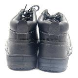 Zapatos de seguridad de goma del tiempo de trabajo del cuero genuino de Outsole