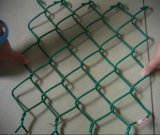 Черная ячеистая сеть PVC Coated цепная в сетке крена/звена цепи