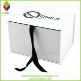 Venta al por mayor plegable blanco Caja de regalo de la joyería