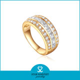 anello dell'argento sterlina di colore giallo 925 di 1PC MOQ in azione (R-0397)