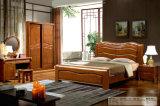 중국 오크재 침실 가구, 나무로 되는 호텔 침대 (803)