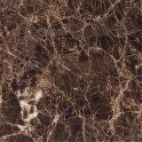 ブラウンカラー大理石の暗いEmperadorの大理石のタイプダイニングテーブルの大理石