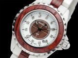 2017 reloj de cerámica y reloj de madera medio de la correa