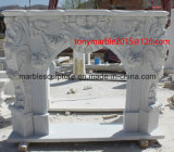 Белый каменный камин мрамора скульптуры (SY-MF004)