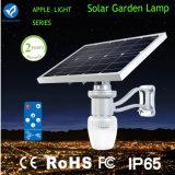 Lumière solaire élevée de jardin de rendement de fonctionnement avec le panneau solaire