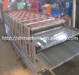El panel del material para techos del metal de la capa doble que forma la máquina