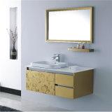ミラーが付いている新しい壁に取り付けられた構成のステンレス鋼の浴室用キャビネット