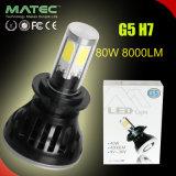 Scheinwerfer-Kopf-Lampen-Installationssatz-Träger-Birnen-Birne 6000k der Leistungs-H7 80W 8000lm LED wasserdicht