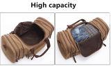 Bolsos de totalizador grandes de la lona del fin de semana del equipaje del descuento del bolso de noche del recorrido