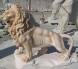 정원을%s 자연적인 Granite Stone Animal Lion Carving Statue/Sculpture