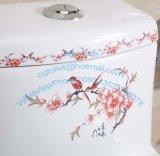 Toilette en céramique d'une seule pièce de toilette de salle de bains de Henan avec la qualité de la CE