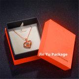 Rectángulo de joyería anaranjado del papel del color para el anillo/el pendiente/la pulsera/el collar
