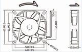 ventilador axial del rodamiento de bolitas del motor de ventilador de la C.C. 12V 60X60X15m m