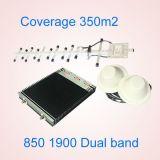 CDMA 850 PCS 1900 amplificatore a due bande dell'interno del ripetitore del segnale di GSM 3G di guadagno del ripetitore del segnale del telefono delle cellule di megahertz alto