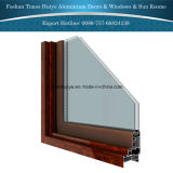 Doppelverglasung-dekorative Aluminiumschiebetüren