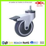 Безшумное медицинское колесо рицинуса (P503-34E100X32C)