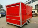 Chariot de nourriture d'acier inoxydable, nourriture mobile de vente