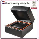 Montre en bois Boîte de conditionnement Boîte de rangement en velours Cuir en cuir Boîte de rangement Boîte de rangement (YS93)