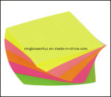 Cube collant en note de note de promotion de spirale sensible faite sur commande en gros d'impression