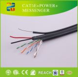 Cabo 2015 de venda quente de China UTP Cat5e+Power+Messenger