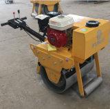 Suelo del pequeño de la maneta Fyl-600 tambor de la gasolina solo/rodillo vibratorios de la carretera de asfalto