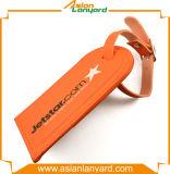 Tag personalizado da bagagem do couro do logotipo da impressão