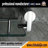Elegante prateleira de vidro de aço inoxidável para acessórios de banheiro (LJ55013)