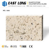 Pedra Polished Sparkling de quartzo para lajes/bancadas de pedra projetadas por atacado