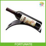 Présentoir acrylique de table noir de vin de lucite de porte-bouteilles de vin