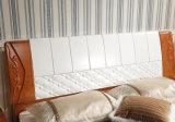 固体木のベッドの現代ダブル・ベッド(M-X2254)