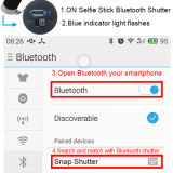 Mini bastone di alluminio di Bluetooth Selfie di modo pieghevole della clip per Smartphone