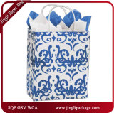 Paquet de papier Jingli Classique Blue Shoppers Art personnalisé Paper Handlade Soap Packaging Box / Kraft Paper Box