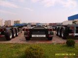 45FT 단 하나 타이어 3 차축 콘테이너 포좌 트레일러