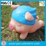 Caja de dinero de cerámica del cerdo creativo