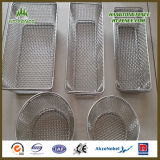 Stainless modificado para requisitos particulares Steel Wire Mesh Basket para Food Basket/Kitchen Basket
