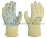 Le gant anti-calorique de travail avec le PVC pointille (K6102)