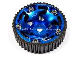 Attrezzo registrabile anodizzato blu della camma lavorato precisione della puleggia cronometrante dell'alluminio