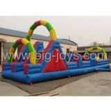 Jogos infláveis ​​Tunnel Obstacle Course, Obstacle Course Bouncer for Kids