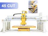 El puente automático del CNC vio la cortadora de mármol