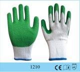 Arruga cubierta látex barato del calibrador del guante 10 del algodón del precio al por mayor acabada