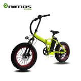 Bicicleta eléctrica plegable elegante del neumático gordo de la montaña de AMS-Tdn-02 250W