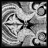 Abstraktes Muster reiner Silk Squrae Schal