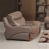 Sofa sectionnel tapissé par cuir élégant de luxe de bureau de meubles
